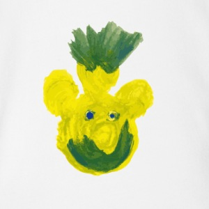 Pooh Pineapple - Organic Short-sleeved Baby Bodysuit