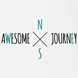 Awesome Journey - Travel (roadtrip) t-shirt - Organic Short-sleeved Baby Bodysuit