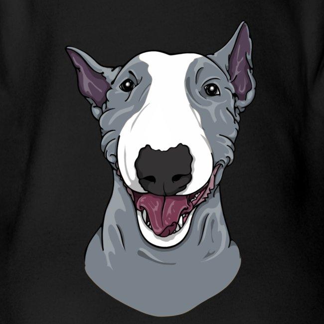 Happy Bull Terrier Blue