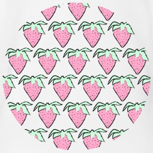 Strawberries - Organic Short-sleeved Baby Bodysuit