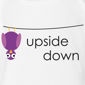 Bird upside down - Organic Short-sleeved Baby Bodysuit