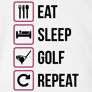 Eat Sleep Golf Repeat - Organic Short-sleeved Baby Bodysuit