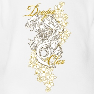 dragon clan - Organic Short-sleeved Baby Bodysuit
