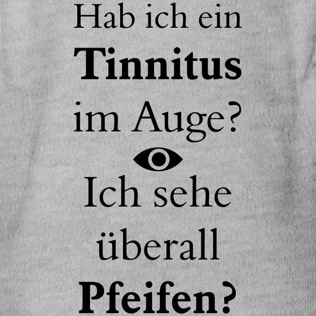 Hab ich Tinnitus im Auge Ich sehe überall Pfeifen