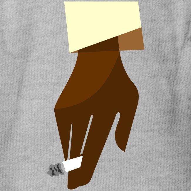 Hand mit Kippe