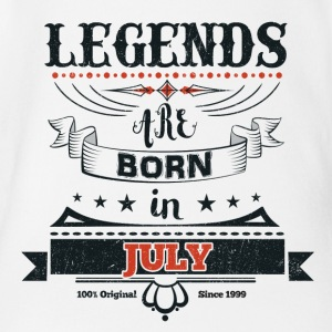 Legends are born in July birthday gift - Organic Short-sleeved Baby Bodysuit