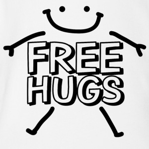 Free Hugs T-shirt - Organic Short-sleeved Baby Bodysuit