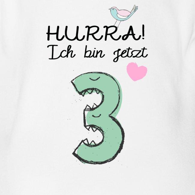 Hurra ich bin jetzt 3 / Geschenk zum 3. Geburtstag
