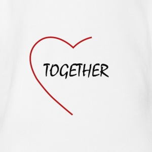 together - Organic Short-sleeved Baby Bodysuit