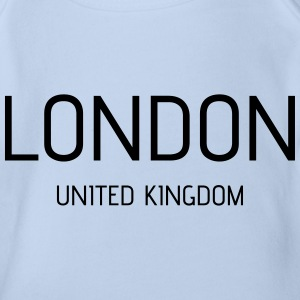 London uk - Organic Short-sleeved Baby Bodysuit