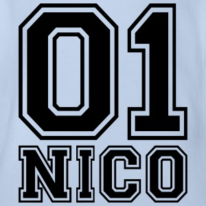 Nico - Name - Organic Short-sleeved Baby Bodysuit