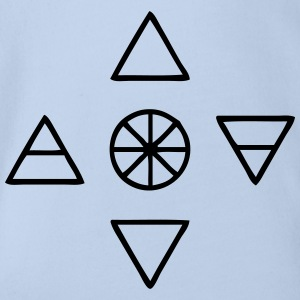 Alchemy Symbols Nature - Baby Bio-Kurzarm-Body