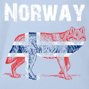 Nation-Design Norway Wolf - Baby Bio-Kurzarm-Body