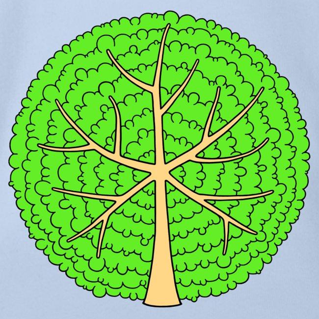 Baum, rund, hellgrün