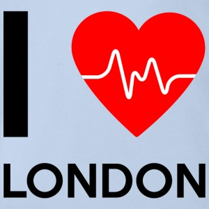 I Love London - Ich liebe London - Baby Bio-Kurzarm-Body
