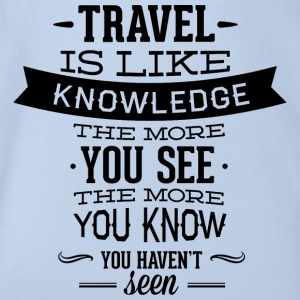 travel like knowledge - Organic Short-sleeved Baby Bodysuit