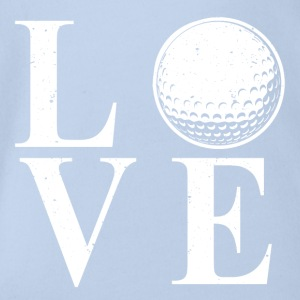 I LOVE GOLF! - Organic Short-sleeved Baby Bodysuit