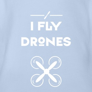 drone fly Quadrocopter pilot air flight propeller - Organic Short-sleeved Baby Bodysuit