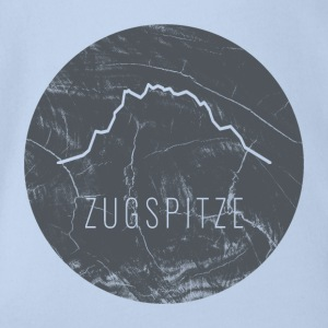 Zugspitze contour on wooden plate - Organic Short-sleeved Baby Bodysuit
