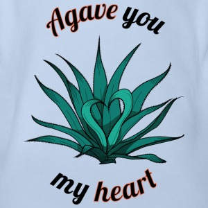 agave you my heart - Body ecologico per neonato a manica corta