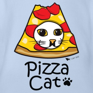 Pizza Katze - Baby Bio-Kurzarm-Body