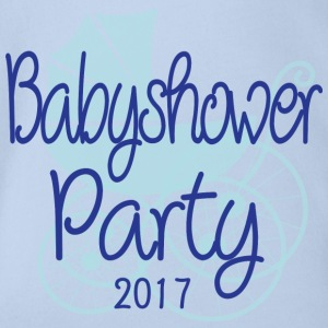 Baby Shower Party 2017 - Body bébé bio manches courtes