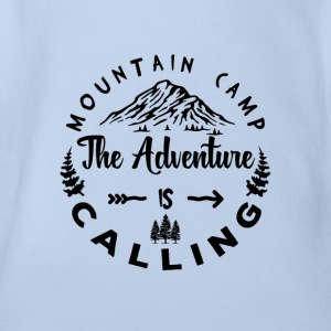 Mountain Camp The Adventure is Calling - Organic Short-sleeved Baby Bodysuit