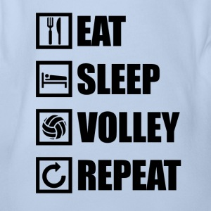 EAT SLEEP VOLLEY REPEAT - Baby Bio-Kurzarm-Body