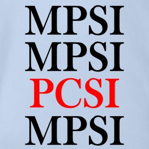 PCSI vs MPSI - Organic Short-sleeved Baby Bodysuit