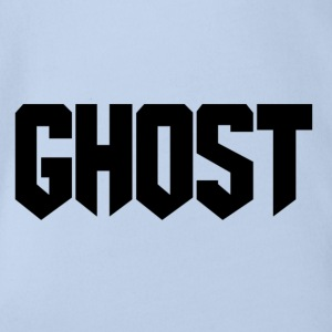 Ghost logo design - Organic Short-sleeved Baby Bodysuit
