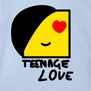 Emo Boy: Teenager-Liebe - Baby Bio-Kurzarm-Body