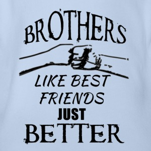 Brothers better than best friends black - Baby Bio-Kurzarm-Body