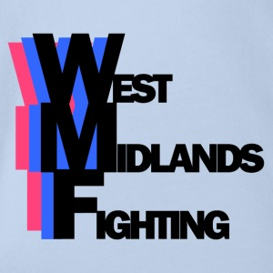 west mids fighting - Organic Short-sleeved Baby Bodysuit