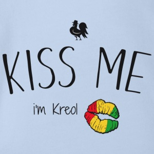 Kiss me i'm kreol - Organic Short-sleeved Baby Bodysuit