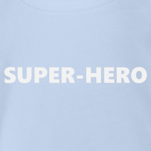 Superhero V2bkEN - Organic Short-sleeved Baby Bodysuit