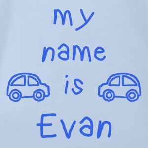 EVAN MEIN NAME - Baby Bio-Kurzarm-Body