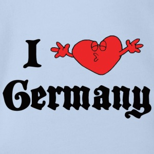 I Love Germany - Økologisk kortermet baby-body