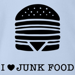 I love junk food / I love junk food - Organic Short-sleeved Baby Bodysuit