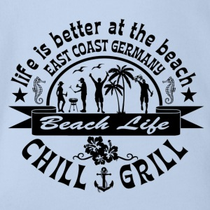 Chill Grill East Coast - Organic Short-sleeved Baby Bodysuit