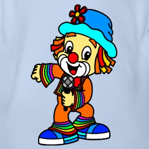 Bunter Clown - Baby Bio-Kurzarm-Body