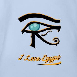 i love Egypt 1 - Organic Short-sleeved Baby Bodysuit