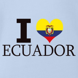 I LOVE ECUADOR - Organic Short-sleeved Baby Bodysuit