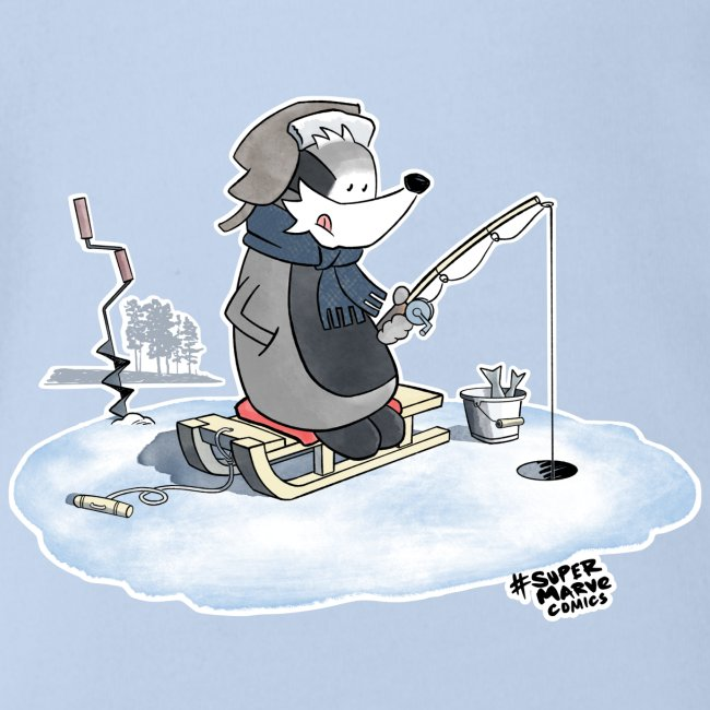 Ice Fishing Badger