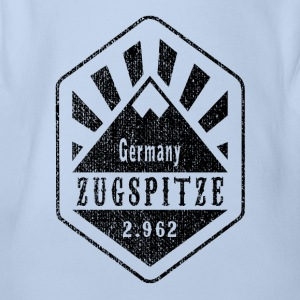 Zugspitze Germany - Used Look - Organic Short-sleeved Baby Bodysuit