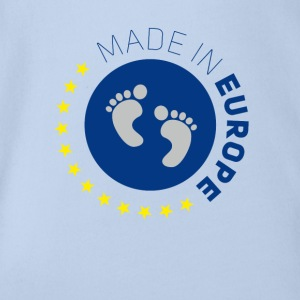 made in europe love EU europe europe baby love lo - Organic Short-sleeved Baby Bodysuit