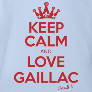 KEEP CALM and LOVE GAILLAC R01 - Organic Short-sleeved Baby Bodysuit