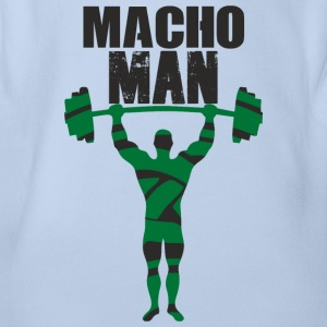 Macho Man - Baby Bio-Kurzarm-Body