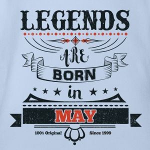 Legends are born in May birthday gift - Organic Short-sleeved Baby Bodysuit