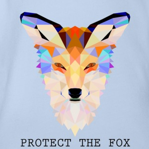 Protect Fox - Organic Short-sleeved Baby Bodysuit