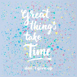 Don't give up - Baby Bio-Kurzarm-Body